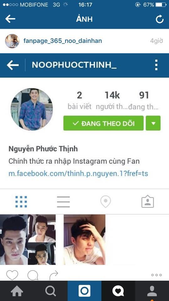 Tại khoản instagram giả mạo vừa được lập trong hôm nay của kẻ giả mạo. - Tin sao Viet - Tin tuc sao Viet - Scandal sao Viet - Tin tuc cua Sao - Tin cua Sao