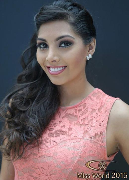 Hoa hậu Bolivia, Vivian Serrana Llanos (Ảnh: Miss World)