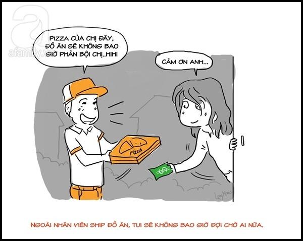 Có lúc lại nhờ đến một chàng giao pizza định nghĩa hộ.