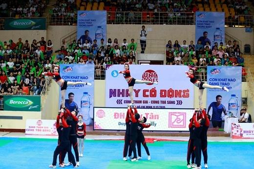 ĐH Duy Tân - Đà Nẵng đã khép lại mùa giải năm nay với vị trí thứ tư toàn quốc nhảy cổ động UniGames.