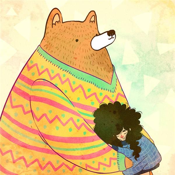 """Là con gái, ai chẳng mong có """"gấu"""" chở che..."""