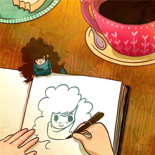 Và cuối ngày, viết vài dòng hoặc vẽ nguệch ngoạc về một ngàyđầy màu sắc và thú vị của mình.