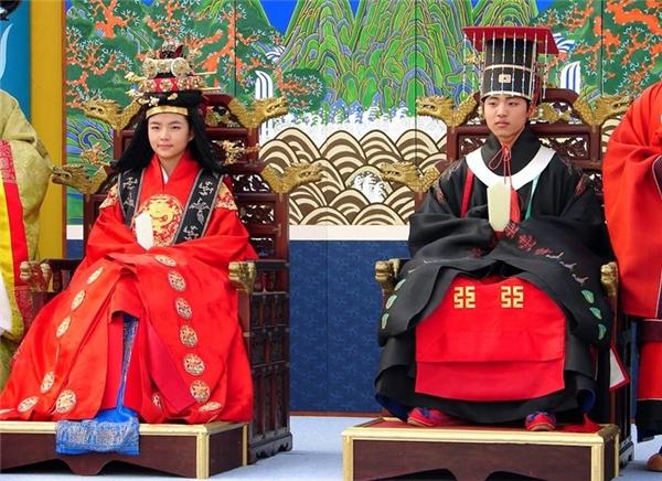 Một lễ cưới tổ chức theo nghi thứctruyền thống Hàn Quốc. (Ảnh: Internet)