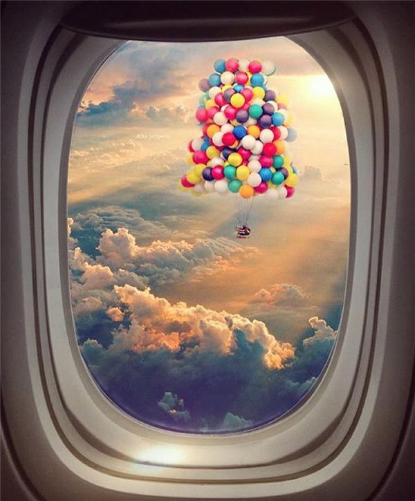 Đâu đó giữa không trung, vẫn còn chút gì bay bổng, mộng mơ của kẻ du hành. (Ảnh: IG@pearlcyprus)