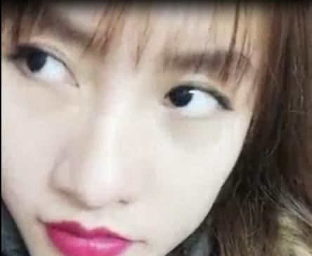 """Cô nàng T.H - người đang được cư dân mạng thích thú gọi là """"chị em của An Nguy"""". (Ảnh: Chụp từ clip)"""