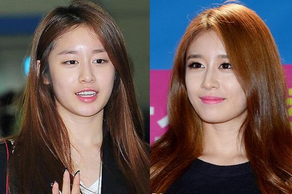 Cũng giống như Gain, cô nàng Jiyeon sở hữu đôi mắt một mí kém sắc cùng gương mặt có phần nhợt nhạt thiếu điểm nhấn khi để mộc tự nhiên.