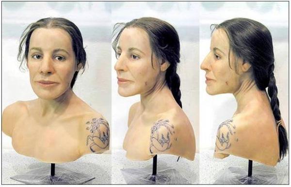 Đây là gương mặt mô phỏng của vị nữ chiến binh nói trên.