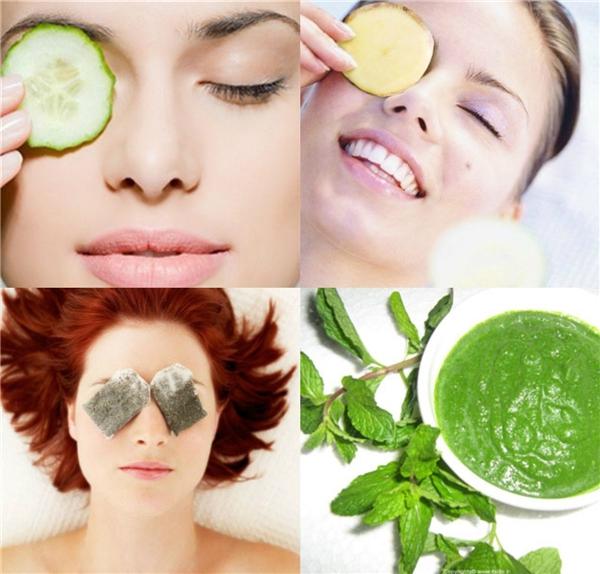 Ngoài khoai tây, túi trà hoặc dưa leo cũng là lựa chọn không tồi cho mắt bạn nếu bị sưng hoặc quầng thâm.