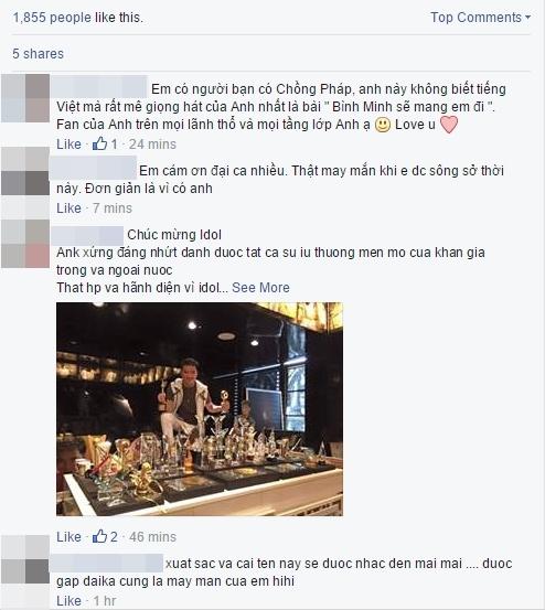 Bức hình khoe 2 chiếc cúp mới toanh trên trang facebook cá nhân của Đàm Vĩnh Hưng đã nhận được vô số phản hồi tích cực của người hâm mộ. - Tin sao Viet - Tin tuc sao Viet - Scandal sao Viet - Tin tuc cua Sao - Tin cua Sao