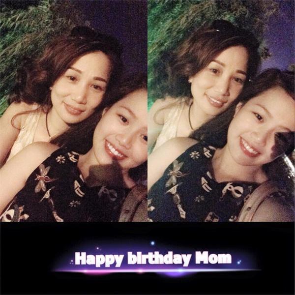 Bức ảnh được Huyền Trang đăng tải để chúc mừng sinh nhật mẹ. (Ảnh: Internet)