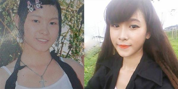 Hình ảnh trước và sau khi cô nàng trở nên xinh đẹp. (Ảnh Internet)