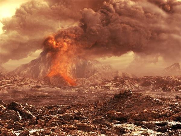 Mỗi giây, Tambora phun khoảng 300-500 triệu kg magma. Hình minh họa