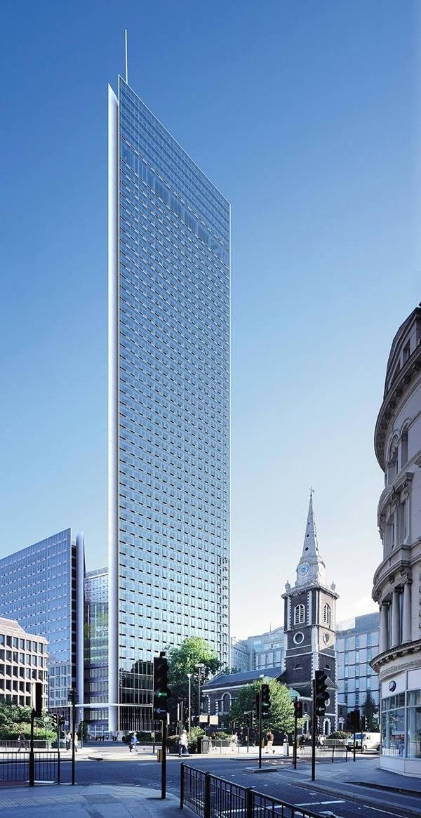 Đây là bản thiết kế tòa nhà Minerva với diện tích một triệu mét vuông, gồm 49 tầng, có sức chứa lên tới 10.000 người, dự kiến sẽ là tòa tháp văn phòng cao nhất và lớn nhất của Luân Đôn. Tuy nhiên, dự án bị hủy bỏ vào 2006 do vấn đề tài chính. (Ảnh: Oddee)