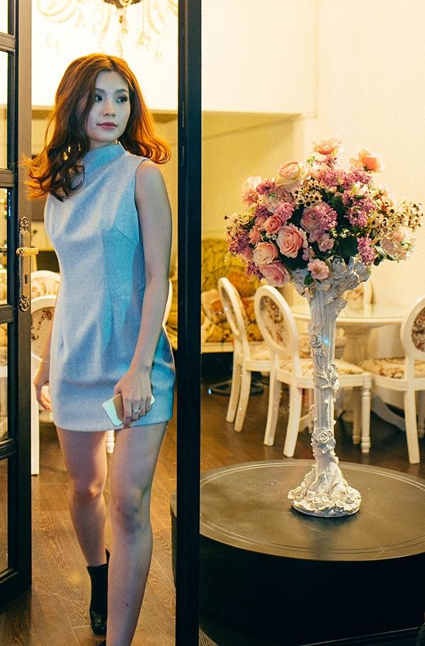 Diễm Trang diện trang phục đơn giản đi thử váy cưới. - Tin sao Viet - Tin tuc sao Viet - Scandal sao Viet - Tin tuc cua Sao - Tin cua Sao