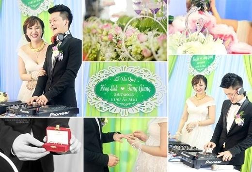 Hình ảnh độc đáo trong lễ cưới của Tùng Giang - Hồng Linh. (Ảnh: Internet)