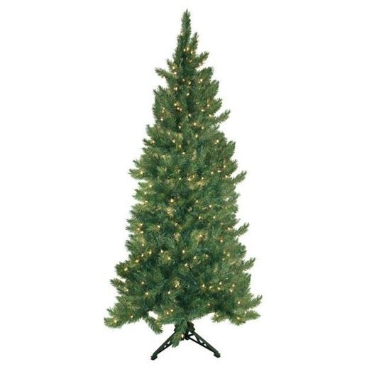 Trang trí cây thông theo phong cách tối giản: chọn dây đèn vàng và khéo léo vòng quanh cây thông nhé.(Ảnh: BuzzFeed)