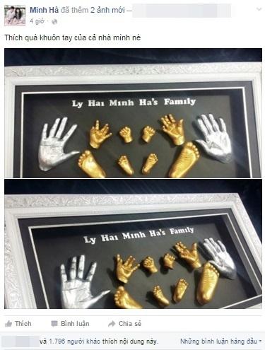 Bức tranh đúc khuôn tay chân 3D của gia đình Lý Hải - Minh Hà. - Tin sao Viet - Tin tuc sao Viet - Scandal sao Viet - Tin tuc cua Sao - Tin cua Sao