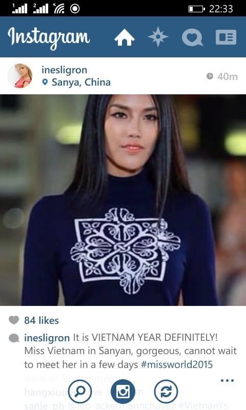 Lan Khuê tiếp tục giữ thế áp đảo tại Hoa hậu Thế giới 2015 - Tin sao Viet - Tin tuc sao Viet - Scandal sao Viet - Tin tuc cua Sao - Tin cua Sao