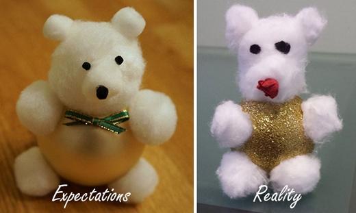 Có lẽ người làm ra chú gấu bên phải bị ám ảnh với việc giảm cân. (Nguồn: Internet)