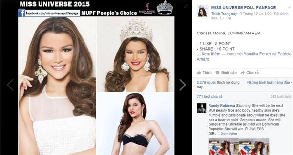 Vị trí cuối cùng trong top 5 là người bạn thân thiết nhất của Phạm Hương trong cuộc thi năm nay Hoa hậu Cộng hòa Dominica. - Tin sao Viet - Tin tuc sao Viet - Scandal sao Viet - Tin tuc cua Sao - Tin cua Sao
