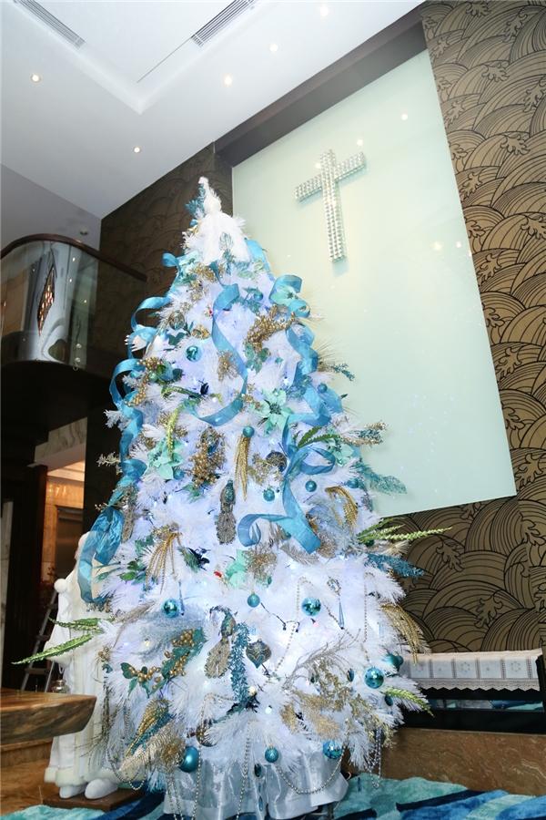 Cây thông trắng tuyệt đẹp được Mr. Đàm lựa chọn cẩn thận - Tin sao Viet - Tin tuc sao Viet - Scandal sao Viet - Tin tuc cua Sao - Tin cua Sao