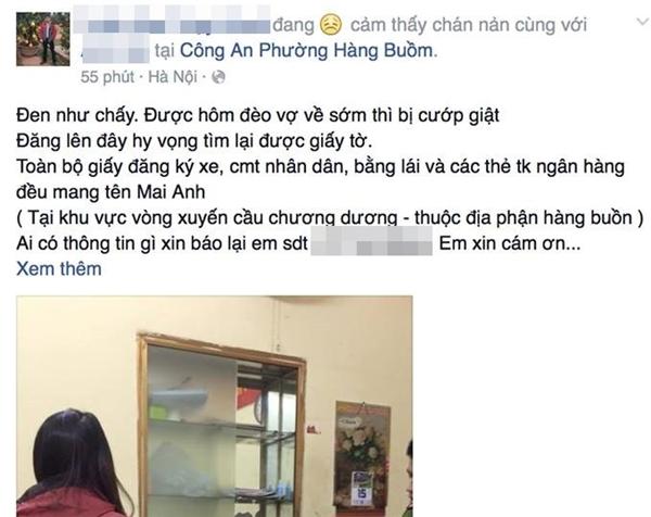 Chủ nhân của chiếc túi cũng đăng câu chuyện bị cướp của mình lên mạng xã hội và rất nhanh chóng sau đó, nhiều người bạn đã giúp anh tìm thấy vị cứu tinh. (Ảnh: Internet)