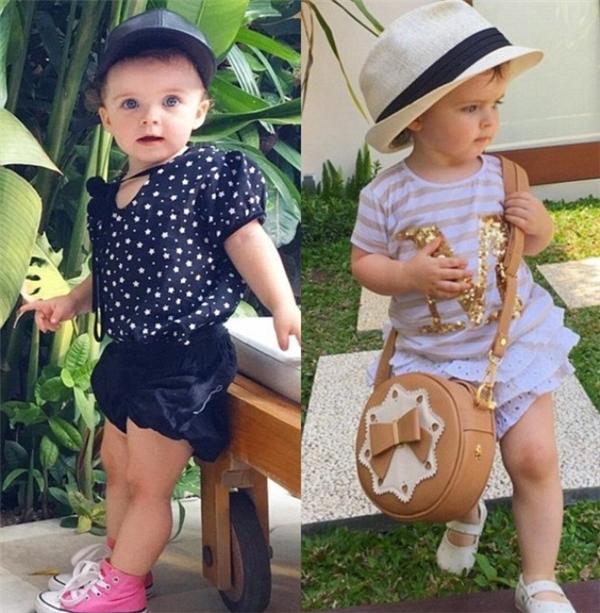 Nhóc tỳ 2 tuổi sở hữu nhãn hiệu thời trang riêng