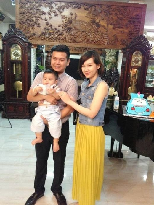 Quỳnh Chi khi còn hạnh phúc bên chồng và con trai. (Ảnh: Internet) - Tin sao Viet - Tin tuc sao Viet - Scandal sao Viet - Tin tuc cua Sao - Tin cua Sao
