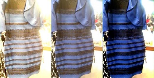 Vàng trắng hay xanh đen:Rốt cuộc thì nó có màu gì? (chiếc áo gây nhầm lẫn màu sắcnhất năm)(Ảnh: Internet)