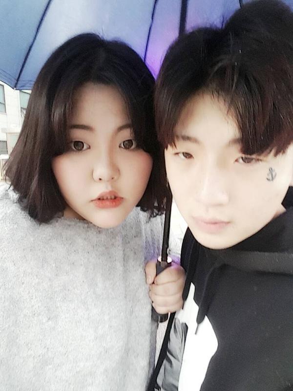Cô nàng Hàn Quốc béo gấp đôi người yêu khiến FA ghen tị vì chuyện tình siêu dễ thương