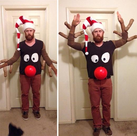 Áo này để múa minh họa cho bài Rudolph the Red-Nosed Reindeer là chuẩn khỏi chỉnh. (Ảnh: Internet)