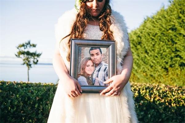 Chú rể Tristin Woods đã không may qua đời 1 tháng trước ngày cưới. (Ảnh: Internet)