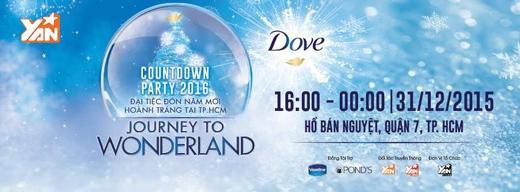 COUNTDOWN PARTY 2016 – Journey to Wonderland là đại tiệc rầm rộ do YAN cùng Unilever phối hợp thực hiện với sự tham gia của các ca sĩ hàng đầucùng những DJ đình đám Vbiz.