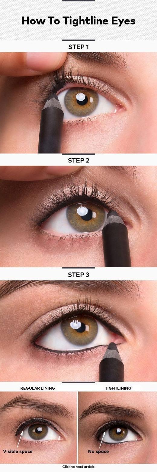 Nếu muốn tạo thêm ấn tượng cho mắt, cần kẻ thêm đường viền mi. Lúc này cần chọn loại liner chống nước nếu không muốn đường kẻ bị nhòe khi chảy nước mắt.(Ảnh: Internet)