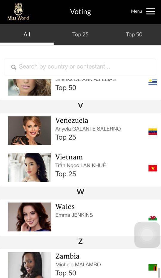 Tìm Lan Khuê trong danh sách ứng cử viên và nhấn chọn - Tin sao Viet - Tin tuc sao Viet - Scandal sao Viet - Tin tuc cua Sao - Tin cua Sao