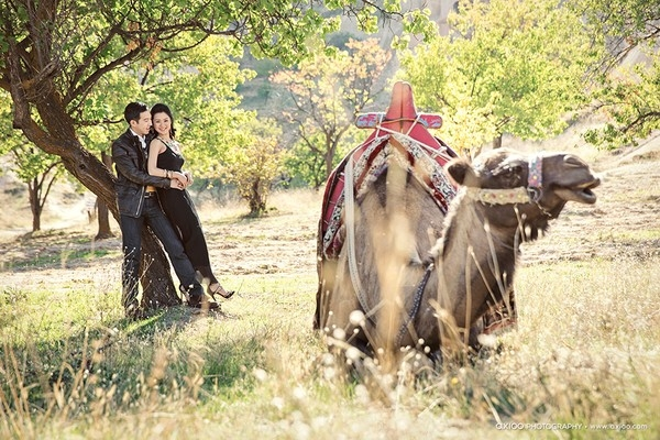 Ảnh cưới của cặp uyên ương này. (Ảnh: Internet)  Một hình ảnh khác từ bộ ảnh cưới chụp tại Thổ Nhĩ Kì.(Ảnh: Internet)
