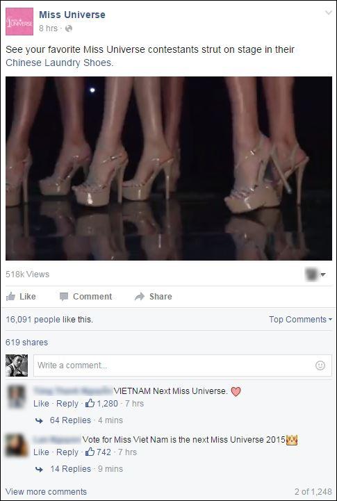 Tìm những bài đăng về Phạm Hương trên facebook của Miss Universe, nhấn like, chia sẻ và bình luận thể hiện sự ủng hộ. - Tin sao Viet - Tin tuc sao Viet - Scandal sao Viet - Tin tuc cua Sao - Tin cua Sao