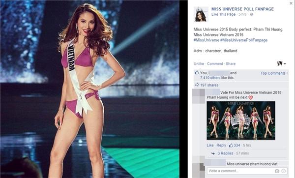 """Netizen Việt """"phủ sóng"""" trang fanpage Miss Universe 2015 để ủng hộ cho Phạm Hương. - Tin sao Viet - Tin tuc sao Viet - Scandal sao Viet - Tin tuc cua Sao - Tin cua Sao"""