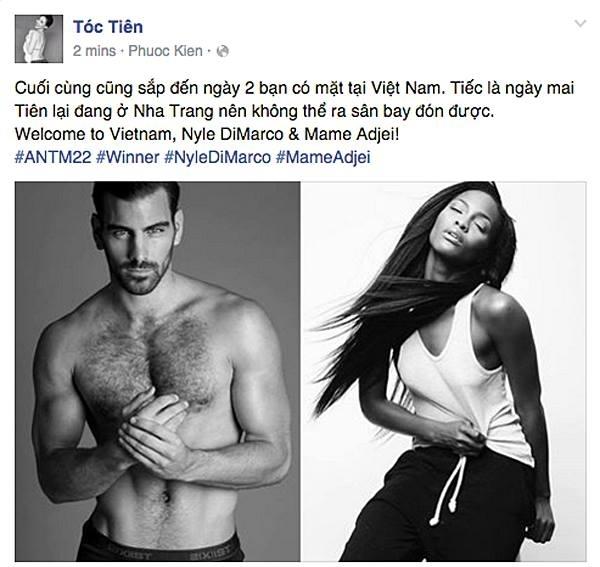 Tóc Tiên xác nhận thông tin hai chiến binh hàng đầu của ngành người mẫu Mĩ đến thăm Việt Nam. - Tin sao Viet - Tin tuc sao Viet - Scandal sao Viet - Tin tuc cua Sao - Tin cua Sao