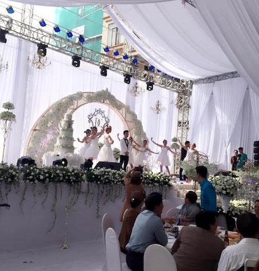 Không gian tiệc cưới sang trọng. (Ảnh: Internet)