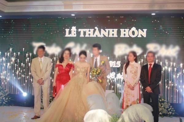 Lễ cưới bị tố là màn kịch che giấu việc mình cóthai của hot girl Thái Nguyên. (Ảnh: Internet)