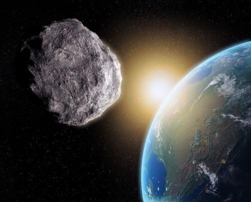 Tiểu hành tinh khổng lồ va chạm với trái đất vào đêm noel. (Ảnh minh họa)