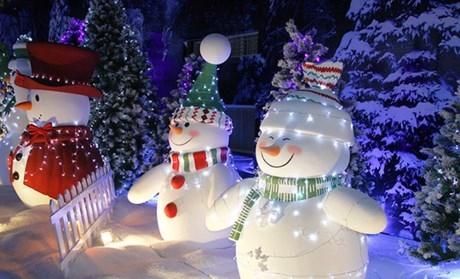 Người tuyết được bố trí ở khắp nơi.(Ảnh Internet)