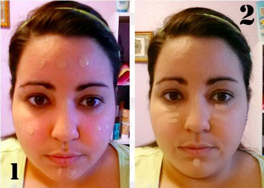 Chẳng hạn, dùng mĩphẩm che cùng màu với làn da để làm nổi bật một số vùng trên mặt. (Ảnh: Internet)