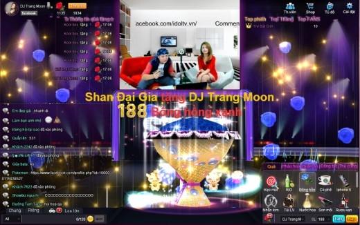 """DJ Trang Moon thể hiện bài hát mới """"Vì em là của anh"""" ngay trên sóng IdolTV.vn."""