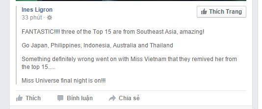 """Ines Ligron từng chia sẻ: """"Ngay khi thấy Phạm Hương trên sân khấu Hoa hậu Hoàn vũ Việt Nam, tôi đã liền nói rằng cô ấy cùng với Thái Lan, sau đó là Phillippines sẽ là những đại diện tốt nhất của châu Á."""" - Tin sao Viet - Tin tuc sao Viet - Scandal sao Viet - Tin tuc cua Sao - Tin cua Sao"""