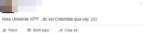 Cư dân mạng bức xúc trước sự nhầm lẫn của MC. Nhiều ngưởi tỏ ra tiếc nuối cho hoa hậu Colombia. - Tin sao Viet - Tin tuc sao Viet - Scandal sao Viet - Tin tuc cua Sao - Tin cua Sao