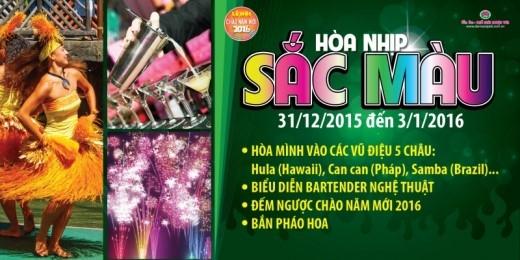 Đêm nhạc như một hành trình đưa khán giả du hành vòng quanh thế giới với những giai điệu chào năm mới đặc trưng ở khắp năm châu.