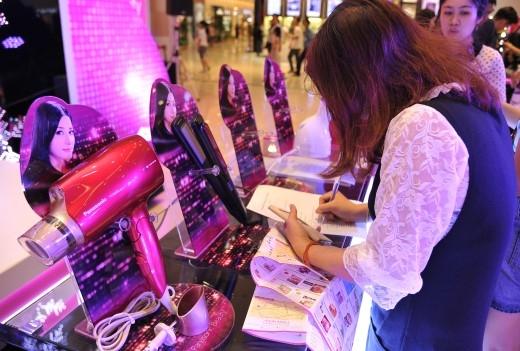 Các sản phẩm trưng bày của thương hiệu Panasonic Beauty.
