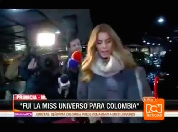 Hoa hậu Colombia đã trả lời câu hỏi phỏng vấn của phóng viên tờ tin tức RCN, cô cho biết nhà tổ chức và MC Steve Harvey đã xin lỗi ngay sau vụ việc